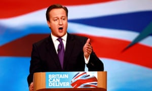 Prime Minister David Cameron addresses the Conservative party conference in Birmingham