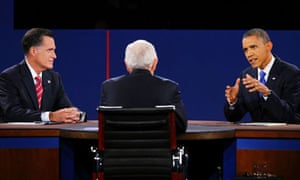Barack Obama and Mitt Romney in Florida