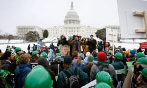Environmental activists in Washington