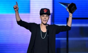 Justin Bieber won artist of the year at the American Music Awards