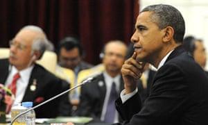 Barack Obama in Cambodia on Monday
