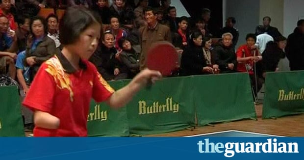 North korea holds table tennis tournament for disabled people video sport the guardian for Table tennis 6 0