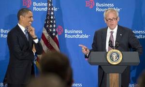 Barack Obama with Boeing CEO Jim McNerney
