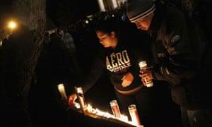 Newtown vigil after Sandy Hook school shootings