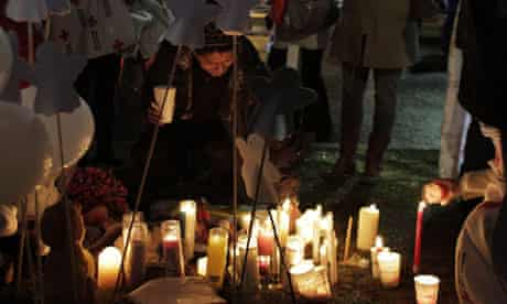 Memorial after Newtown shooting
