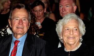 George Bush Sr and his wife Barbara in 2010