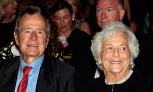 George Bush Sr and his wife Barbara in 2010. He has sought to distance himself from his George Bush Jr's political exploits.