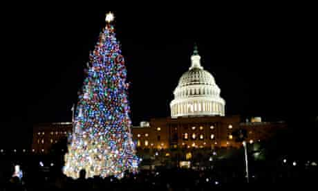 The US Capitol Christmas tree