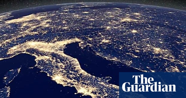 nasa satellite captures earths electric night video science the guardian