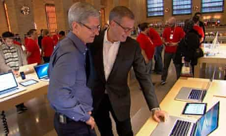 Apple CEO Tim Cook with NBC's Brian Williams