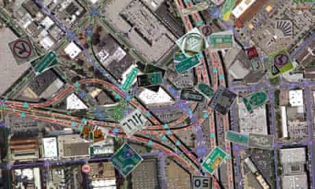 Google Maps, US signage