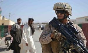 US troops on patrol in Helmand in Afghanistan