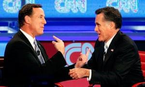Romney Santorum GOP Michigan
