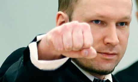 Breivik gestures on day three of trial