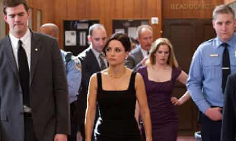Julia Dreyfuss as vice-president Selina Meyer in Veep