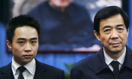 Bo Xilai and his British-educated son Bo Guagua