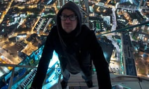 One of the Shard explorers in a photograph posted online.