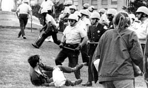 Police and protesters clash in 1968