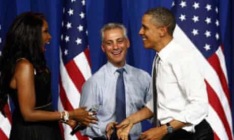 Rahm Emanuel with former boss Barack Obama