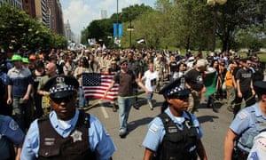 Nato protest crowds
