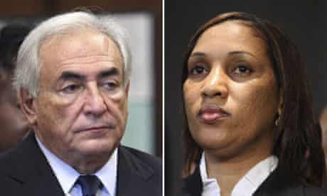 Dominique Strauss-Kahn and his accuser in a sexual assault case, Nafissatou Diallo