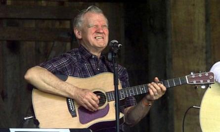 Arthel 'Doc' Watson at Merlefest in North Carolina, 2001.