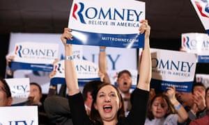 Mitt Romney supporters in Boston
