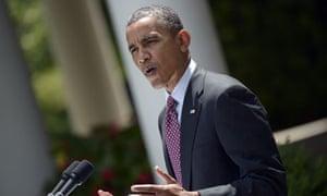 Barack Obama in the Rose Garden