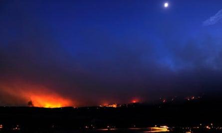 The Waldo Canyon fire burns near Colorado Springs