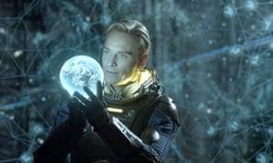 Michael Fassbender in Ridley Scott's Prometheus