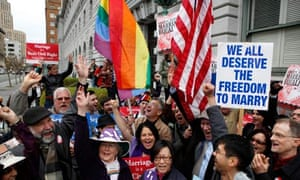 Gay rights activists in California