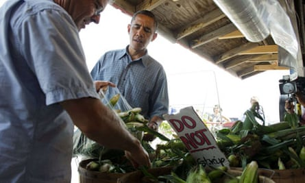 Barack Obama buys corn in Ohio