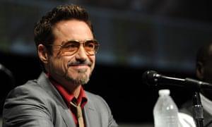 Robert Downey Jr speaks at the Iron Man panel