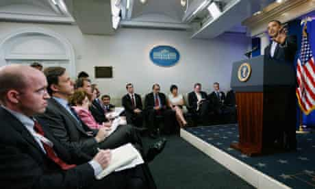 Barack Obama, White House press corps