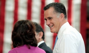Mitt Romney at a campaign stop in Costa Mesa on Monday