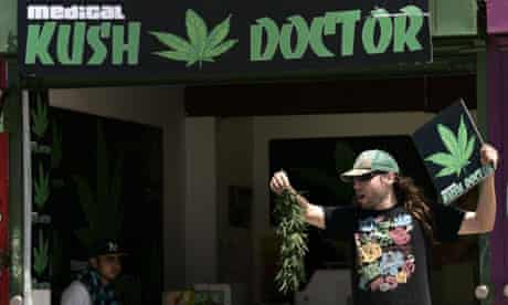 A pot shop in Los Angeles. The city council has voted to close them down.