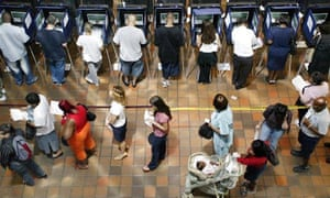 Voters at the ballot box in Florida