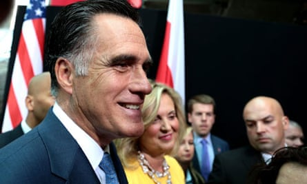 Mitt Romney and his wife Ann in Warsaw