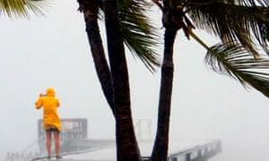 Tropical storm Isaac hits Key West, Florida