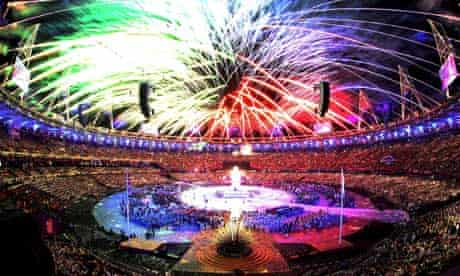 Fireworks at Paralympic opening ceremony