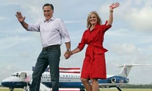 Mitt Romney and Ann in Lakeland, Florida