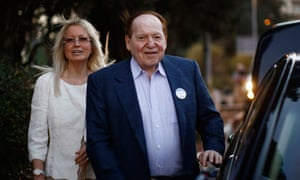 Sheldon Adelson and his wife Miriam