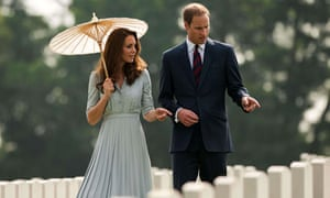 Prince William and the Duchess of Cambridge, visit the Kranji Memorial Cemetery in Singapore