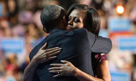 Barack Obama and Michelle at the Democratic national convention in Charlotte