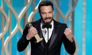 Ben Affleck, best director at the 2013 Golden Globes