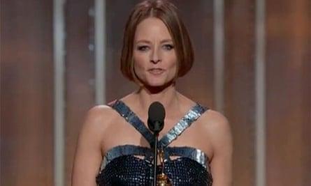Jodie Foster speaking at the 2013 Golden Globes
