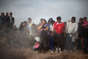 Friends and family mourn at the funeral of two sisters in Ciudad Juárez