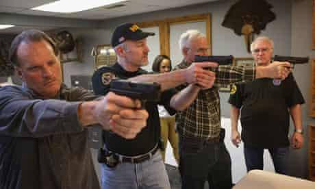 Target practice at a gun range in Illinois