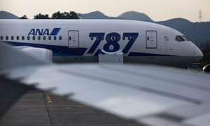 A Boeing 787 at Takamatsu airport in western Japan