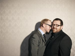 Actors Simon Pegg and Nick Frost